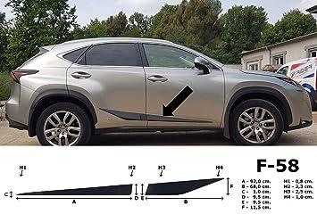 Spangenberg 370005801 - Embellecedores Laterales para Lexus NX 300H SUV NX300H (Modelos a Partir de 07.2014- F58), Color Negro: Amazon.es: Coche y moto