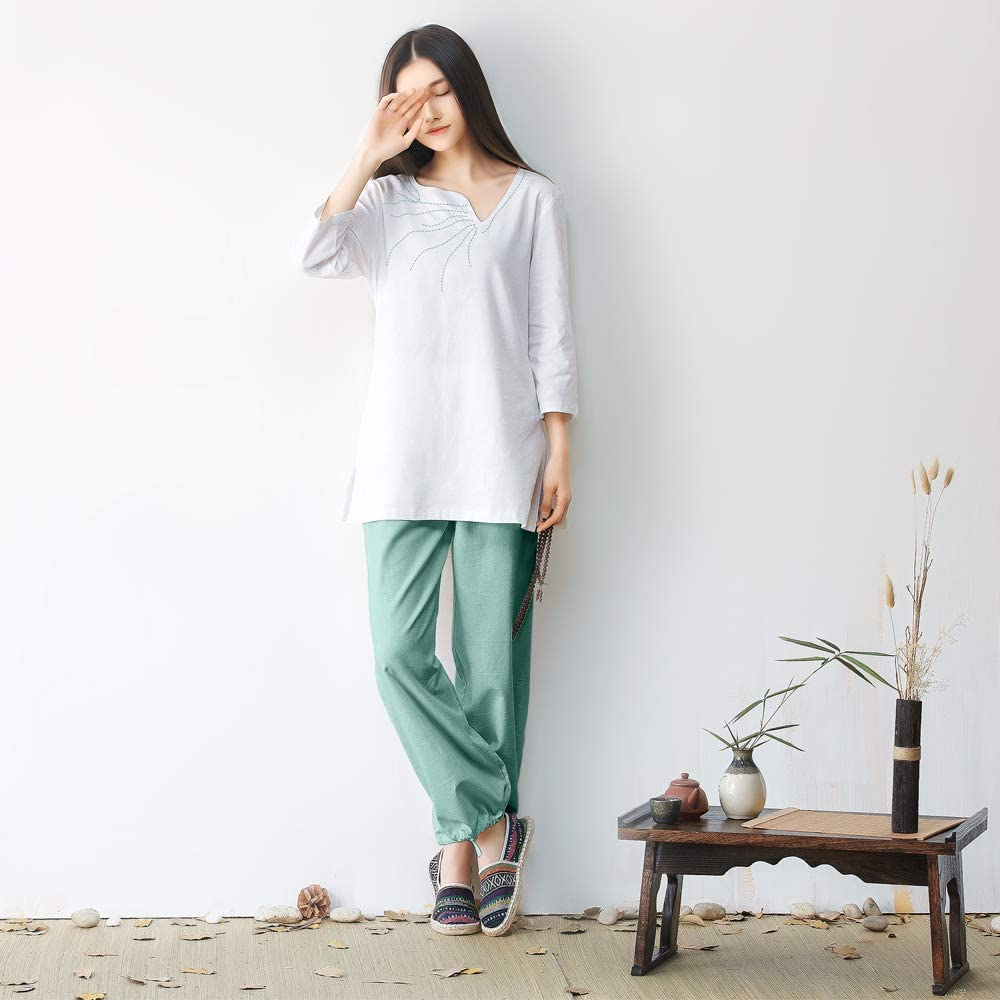 Amazon.com: KSUA - Traje de mujer Zen Meditation Uniform Tai ...