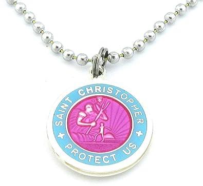 Amazon st christopher surf medal necklace pomegranatebaby st christopher surf medal necklace pomegranatebaby blue medium aloadofball Choice Image