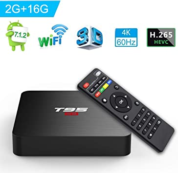 Newest 2+16G Android 7.1.2 Nougat 4K TV BOX Quad Core S905W WIFI 4K Movies sport