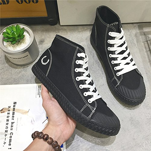 Black Size Canvas 39 Flat Shoes Comfort Loafers Shoes Casual Work HUAN Color Espadrilles Deck Shoes Mens Sneakers 6Zq44p