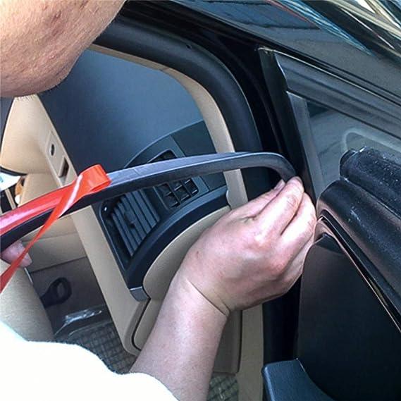 senzeal Goma D/B Forma Junta Rayas para Auto Ventana Puerta – Aislamiento acústico motorabdeckung Trim 5 m: Amazon.es: Coche y moto