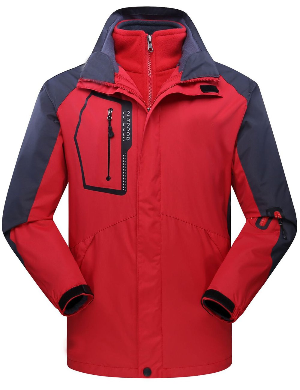 CUKKE OUTERWEAR レディース B077XNZQDN 3L|Red Nvw1201 Red Nvw1201 3L
