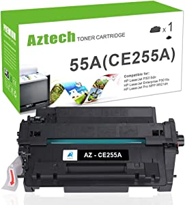 Aztech Compatible Toner Cartridge Replacement for HP 55A CE255A 55X CE255X Laserjet Enterprise P3015dn P3015x Laserjet Pro 500 MFP M521dn M521dw (Black, 1-Pack)