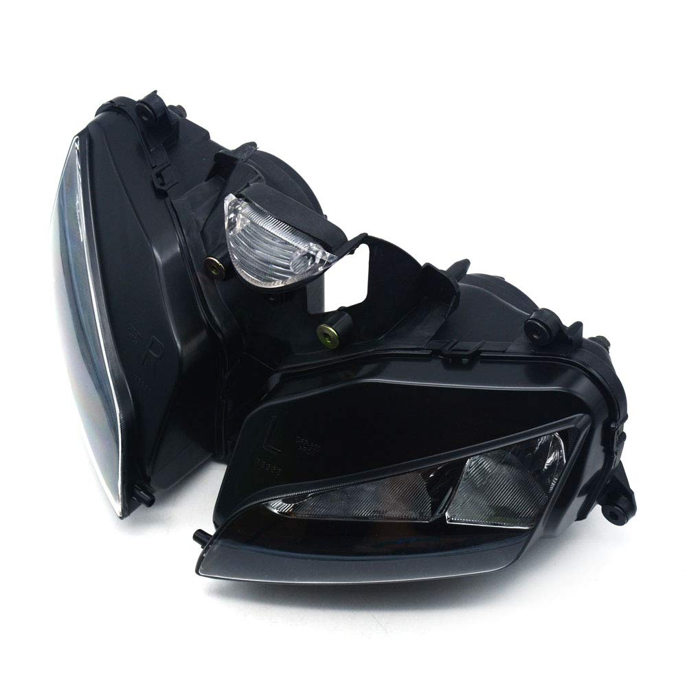 Moto Faro Head Light Lamp Nero per YZF R6 2008-2012