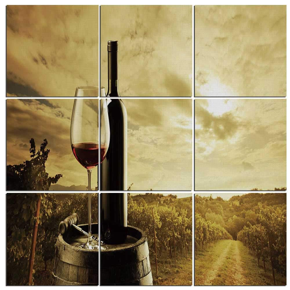 Amazon.com: Canvas Painting Wall Art Wine Canvas Art Prints for Home ...
