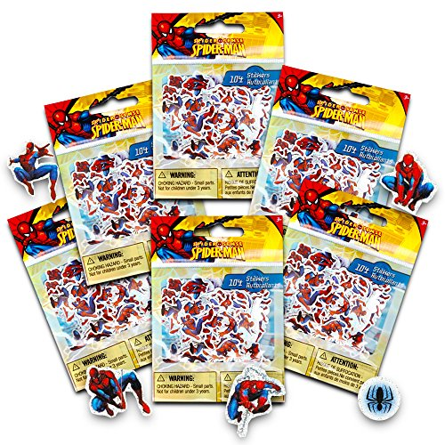 Marvel Spiderman Stickers Party Favor Pack (336 Stickers) Marvel Spider Man Sticker