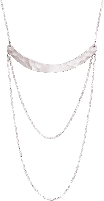 Silpada 'Avant Garde' Curved Bar Drop Necklace in Sterling Silver