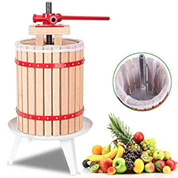 AMNZZ De Madera Fruta Prensa - 6 litros Manual Exprimidores para Hecho en casa Jugo,