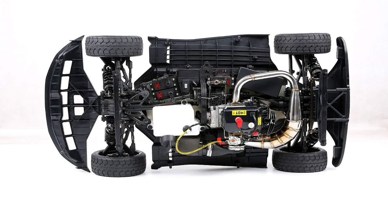 MZL Monster Truck Carrera 4x4 Relación 1: 5, súper Recorrido, 36 CC, Cuatro Puntos fijos, Motor de Gasolina, Juguete para Adultos (LxWxH: 920x475x270mm): ...