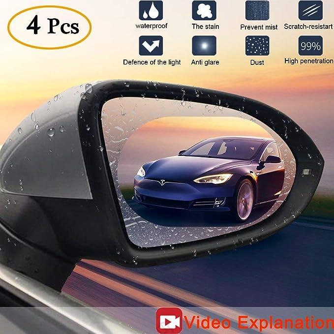 Turobayuusaku Car Rearview Mirror Rainproof Film Anti-Fog Rearview Anti-Glare Rainproof Film