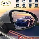 Fog Clear Car Rearview Mirror Accessories xinstar Pack of 8 Anti Fog Film,Car Rearview Waterproof Anti-Fogging,Anti-Mist Anti-Dazzle,Mirror Rainproof,Anti-Glare Side Mirror Window Protector Film,Anti