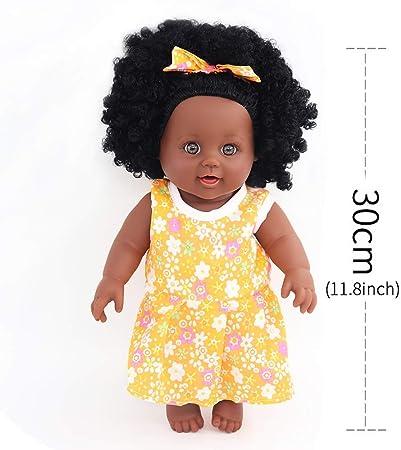Vintage African American Doll Head Hands Set Wonder Boy Black Hair Brown Skin