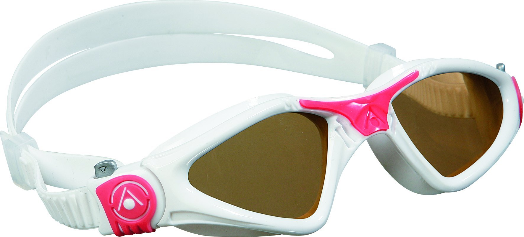 Aqua Sphere Kayenne Ladies Swimming Goggles Smoke Lens, White & Coral UV Protection Anti Fog Swim Goggles for Women by Aqua Sphere (Image #1)