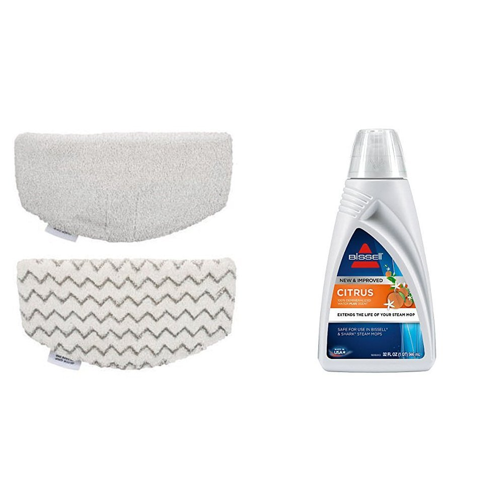 Bissell PowerFresh Steam Mop Pads (2 pk) with Fragrance discs (4 ct), 5938 with Citrus Scented Demineralized Water, 1393, 32 oz