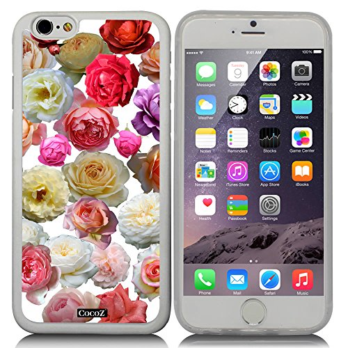 CocoZ? New Apple iPhone 6 s 4.7-inch Case Beautiful Colorful roses pattern TPU Material Case (Transparent TPU & Colorful roses 26)