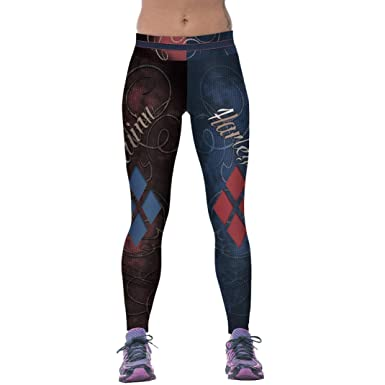SOMESUN Rouge Bleu Leggings D EntraîNement De La Mode des Femmes Fitness  Sports Gym Running 72f7b2bb0dd