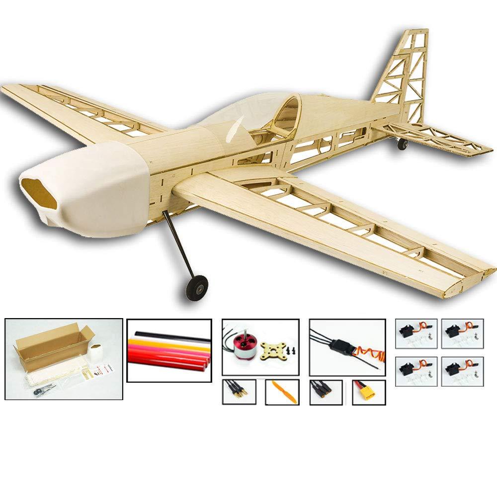 DW Hobby 2019 1000 mm Kit de avioneta de repuesto extra330 RC para construir corte l/áser modelo de madera de balsa