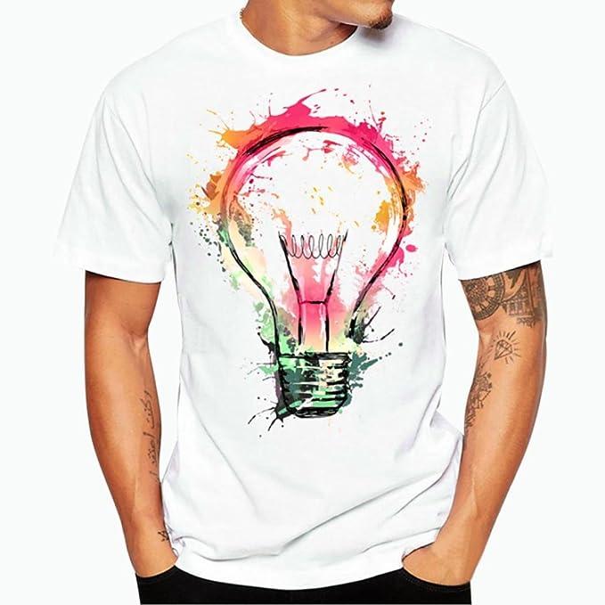 Resplend Camiseta de Manga Corta con Estampado de Hombre y Camiseta de algodón de Manga Corta
