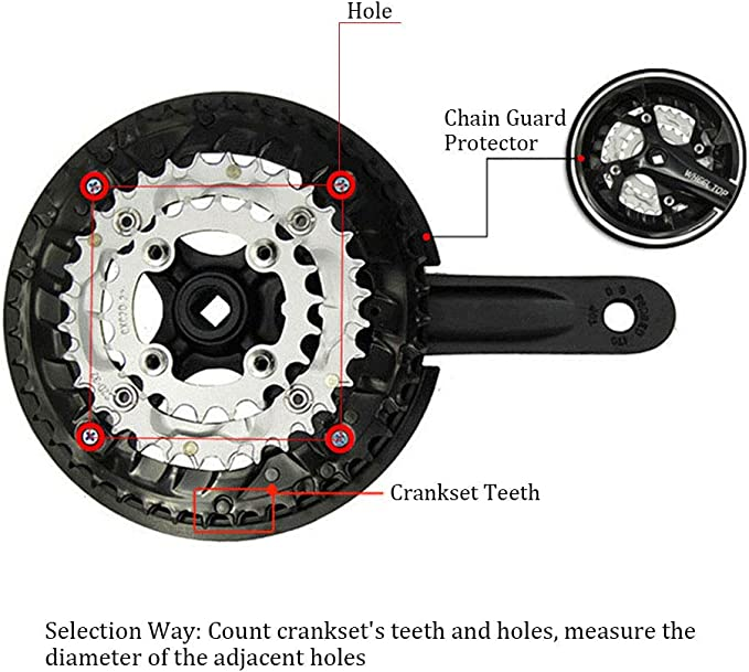 BCD 104mm MTB Bike Universal Crank Protect Cover Support Chain Wheel Guard NEW