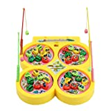 HeroNeo® Go Fishing Game Electric Rotating Magnetic Magnet Fish Toy Kid Educational Toys