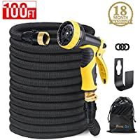 HOUSE DAY Expandable Garden Water Hose With 9-Way Spray...