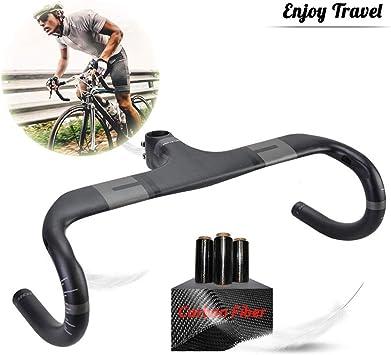 GWSPORT Manillar de Bicicleta Carretera, Fibra de Carbono ...