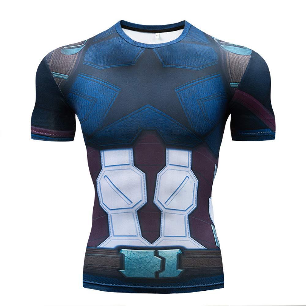 JUFENG Spider-Man Tights Avengers 3 Infinite War Fitness Abbigliamento Sportivo Tuta da Uomo A Maniche Corte T-Shirt Marvel,A-S