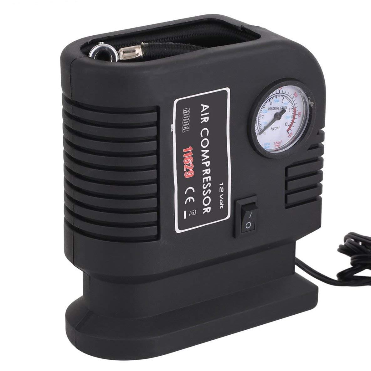 Neumático 12V de la bomba del compresor de aire del vehículo auto portátil con 3 adaptadores inflador del neumático de la bomba eléctrica para los juguetes ...