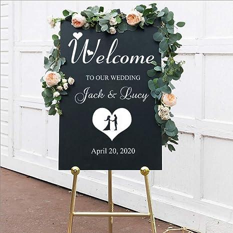 Etiqueta de la boda Diy Cartel de bienvenida a la boda ...