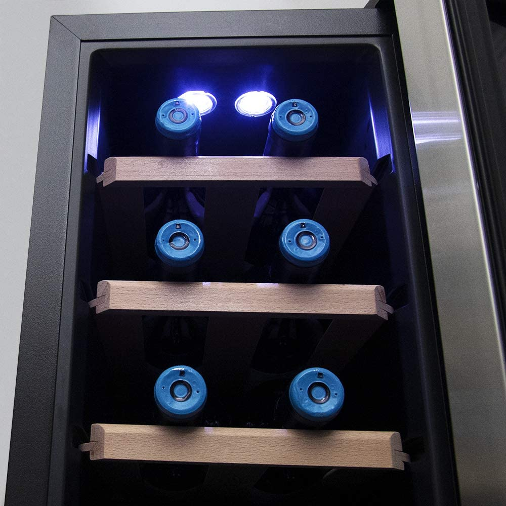 Cecotec Vinoteca Grand Sommelier 800 CoolWood. 8 Botellas ...