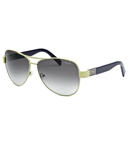 e34da5c80cdbe Nicole Miller Stone-C03-61-13 Women s Stone Aviator Green Sunglasses ...
