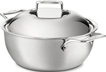 All-Clad D5 Brushed Stainless Steel 5.5-Qt Dutch Oven (Second Quality)