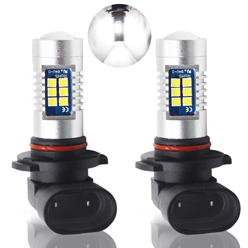 Boodled 9-30V H10 9145 LED Fog Light Bulbs Super Bright 3030 21-SMD Chipsets 6000K~7000K, 1200Lumens LED Bulbs With Projector for DRL or Fog Lights.White(2-Pack). Guangzhou BD Photoelectric Technology Co. Ltd