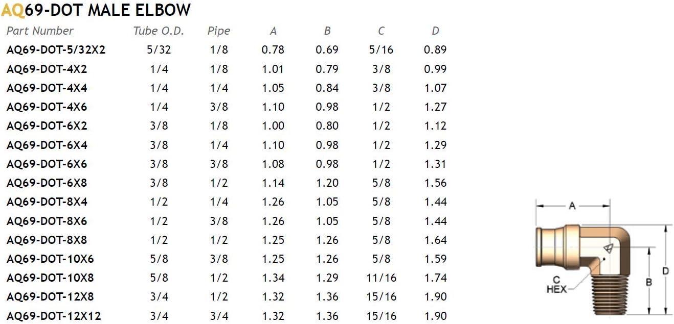 ALKON DOT MALE ELBOW SWIVEL 3//8 X 1//2