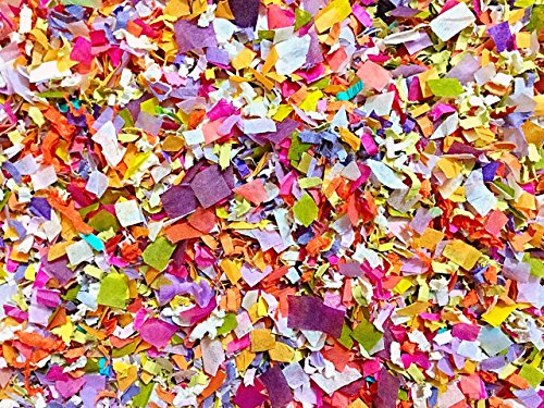 Sunflower Meadow Confetti Mix Biodegradable Bright Multicolored Floral Purple Yellow Confetti Mix Party Decorations Decor Throwing Send Off InsideMyNest (25 Handfuls)