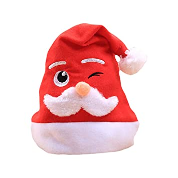 0874c57f38676 Image Unavailable. Image not available for. Color  1Pc Family Matching Christmas  Hat Cute Adults Kids Santa Claus Cap Xmas Decorations Gifts