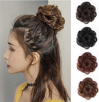 Remeehi Chouchou En Cheveux Naturels Avec Pince A Cheveux Pour Cheveux Courts Noir Amazon Fr Beaute Et Parfum