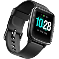 Fitness Tracker Smart Watchn with Heart Rate Monitor and 9 Sports Modes,Waterproof Color Touch Screen Activity Tracker…