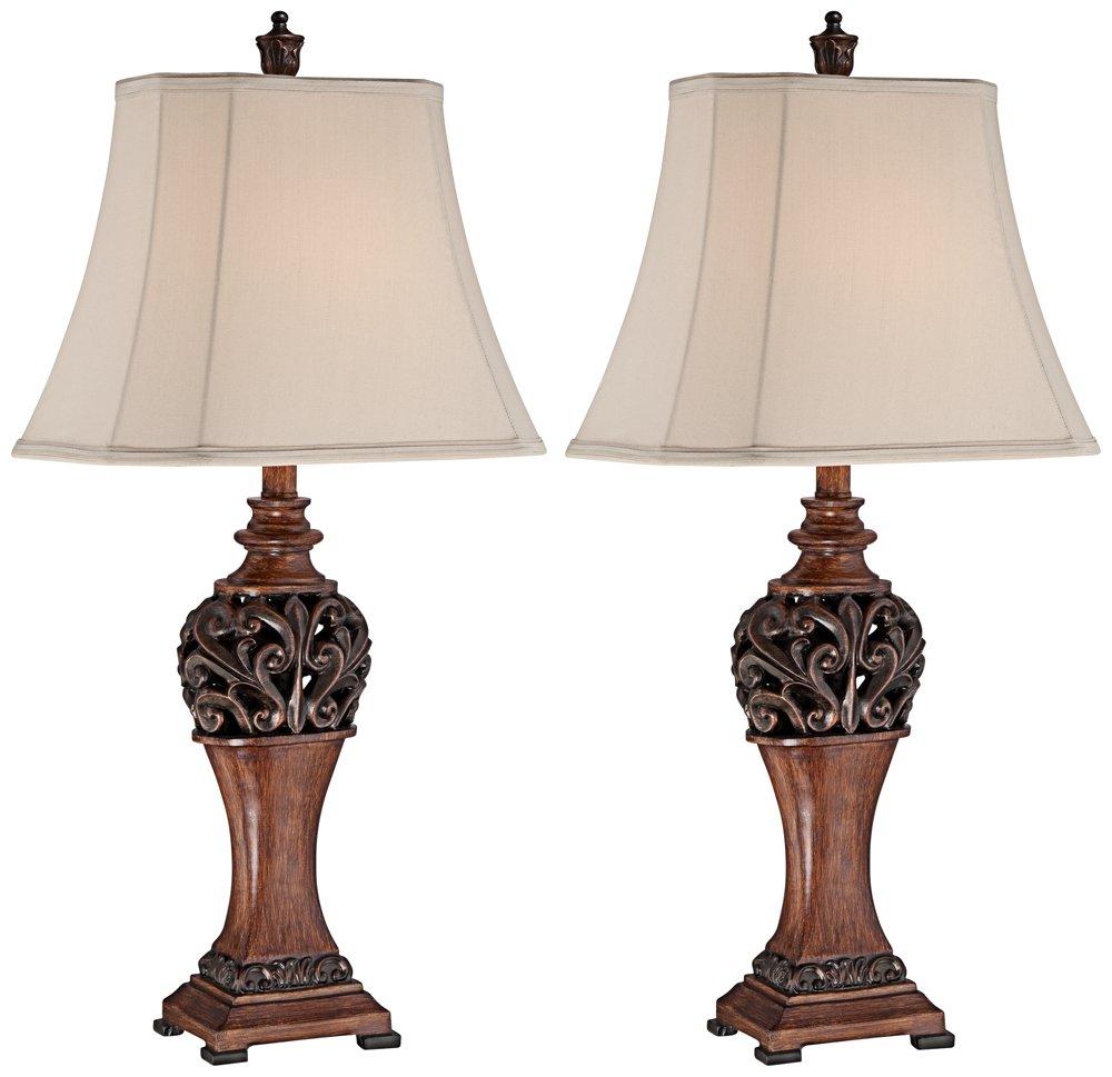 Exeter Bronze 15 Watt LED Table Lamp Set of 2