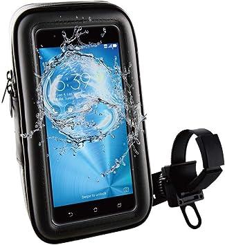 Muvit MUCHL0069 - Soporte Smartphone para Bicicleta, a Manillar con Acceso a Pantalla hasta 6.2