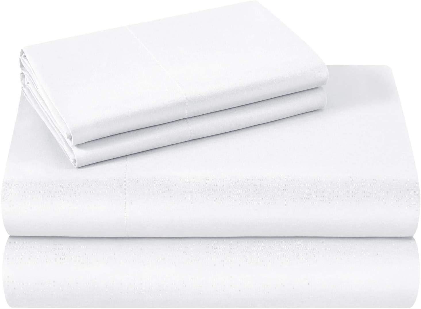 4 Piece Premium Sheet Set-Cotton Bed Sheets Twin Size