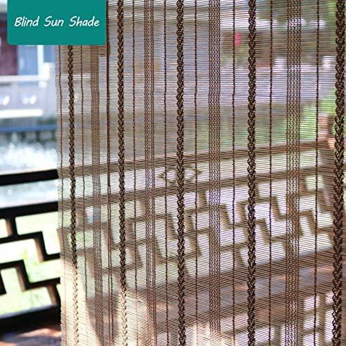 竹ローラーブラインド、日よけ、中国風装飾パーティションカーテン、テラス/ガーデン/屋外/バルコニー、カスタムドア/窓シャッター、ブラウンに使用