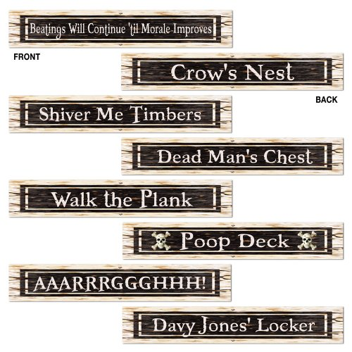 [Pirate Street Sign Cutouts Party Accessory (1 count) (4/Pkg)] (Street Sign Halloween Costumes)