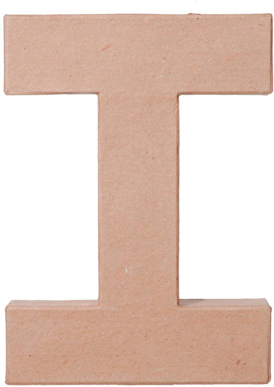 3-Pack Darice Bulk Buy DIY Paper Mache Letter I 8 x 5.5 x 1 inches 2862-I