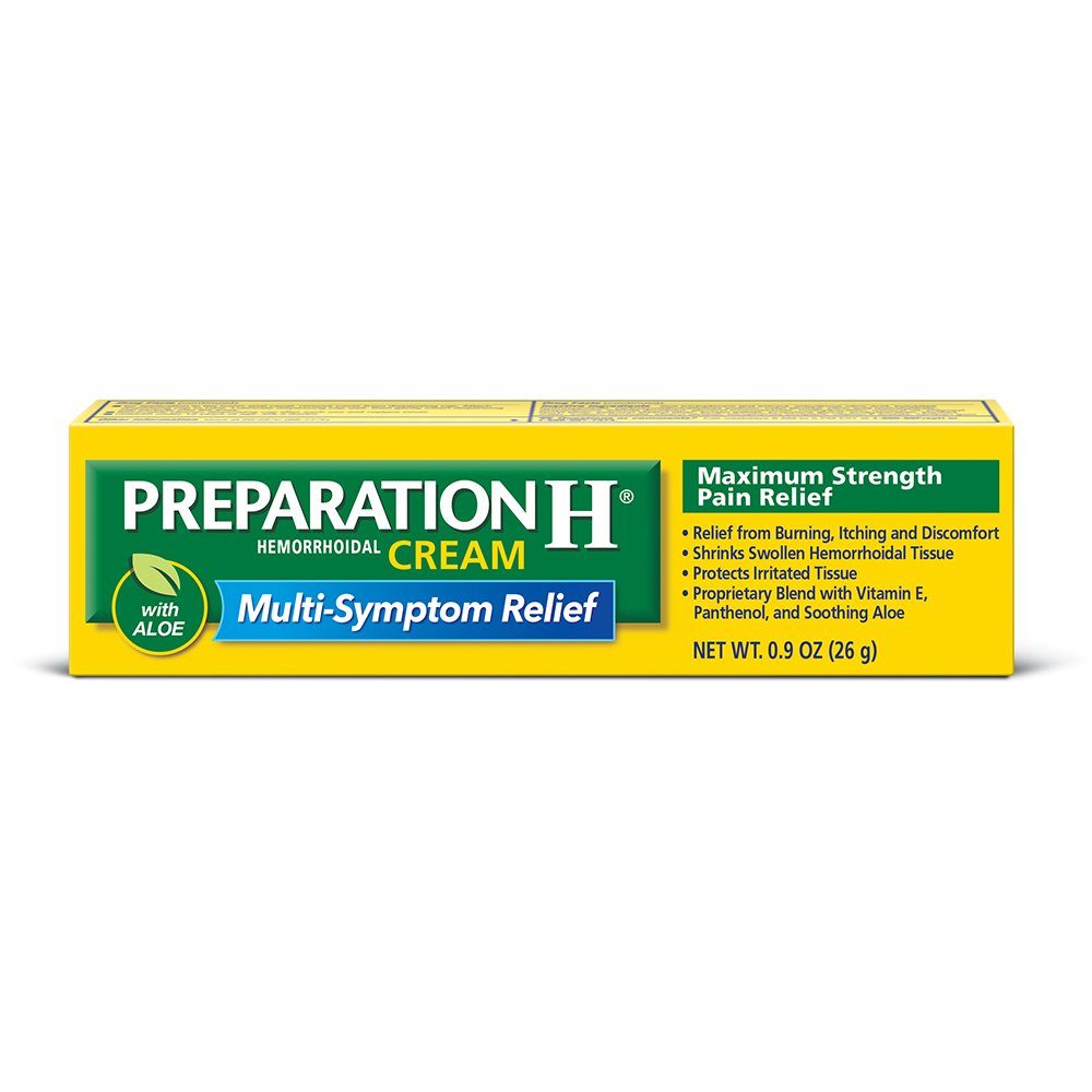 Amazon Com Preparation H 0 9 Ounce 1 Tube Per Box Hemorrhoid