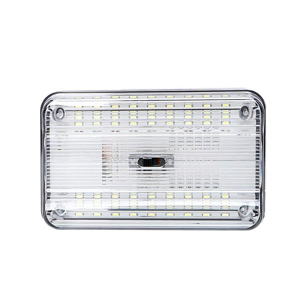 per interni auto rimorchio con interruttore Luce di ricambio per auto a cupola camion luce da soffitto sottile 36 LED bianchi camper casa camper