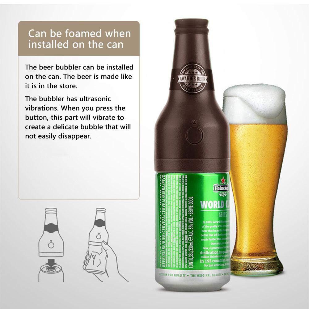 Compra KOBWA - Dispensador de Cerveza ultrasónico y Espuma, dispensador de Cerveza de Repuesto para Cerveza enlatada en Amazon.es