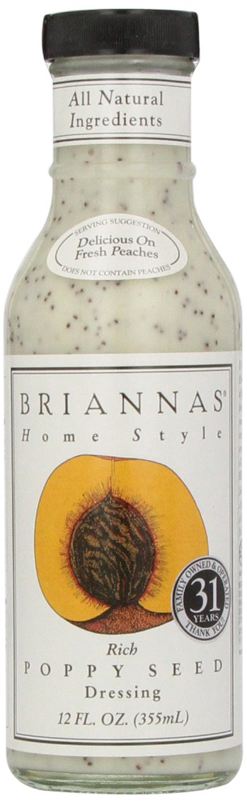 Brianna's Poppy Seed Dressing, 12-Ounce Bottles (Pack of 6)