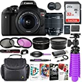 Canon EOS Rebel T6i 24.2MP DSLR Camera with Canon 18-55mm STM Lens Bundle + 32GB SD Memory + HD Filters + Spider Tripod + Professional Bundle with Corel Software Kit